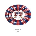 <B> 12-inch AMAZING 3-D EAGLE FLAG -3-D-Wind Spinner</B>